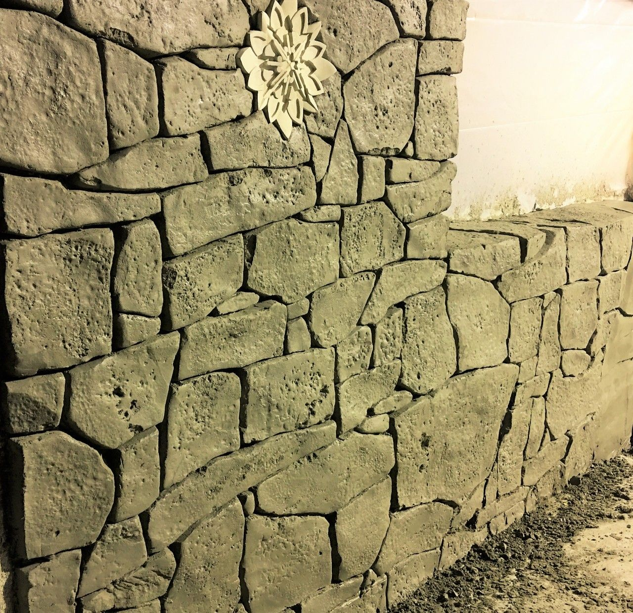 How to Stamp Vertical Decorative Concrete
