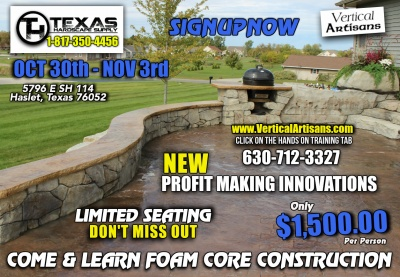 Foam Core Construction at Texas Hardscape Supply